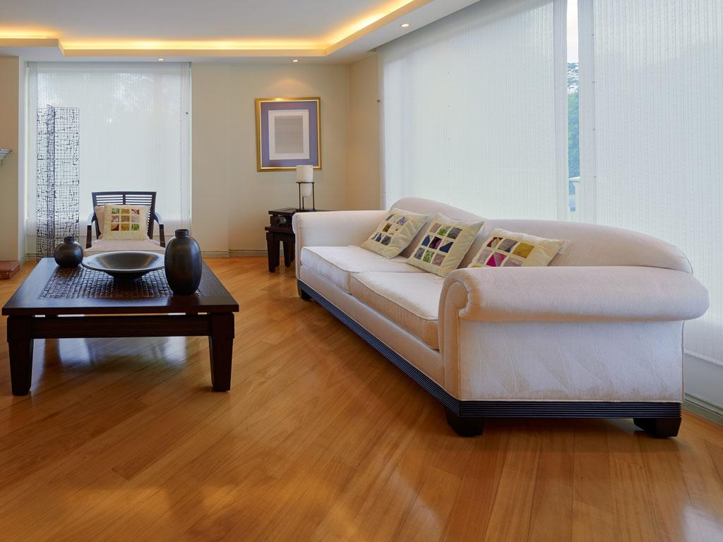 Hardwood flooring for a living room